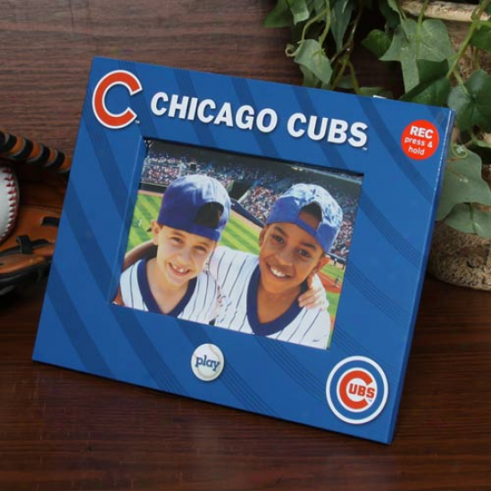 Chicago Cubbs 4'' X 6'' Royal Blue Talking Picture Frame