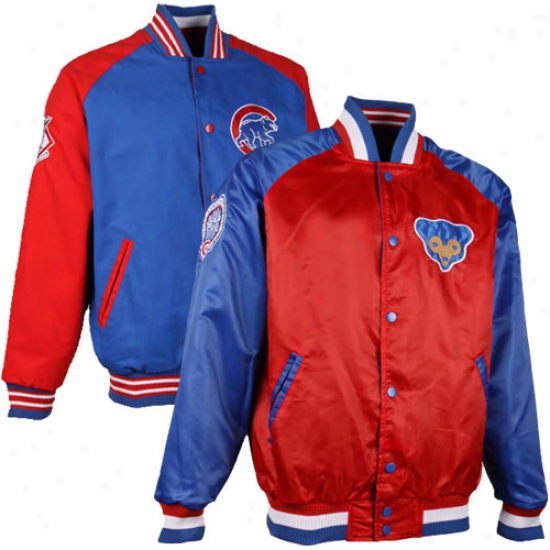 Chicago Cubs Retro To Current Reversible Jacket - Royal Blue/red