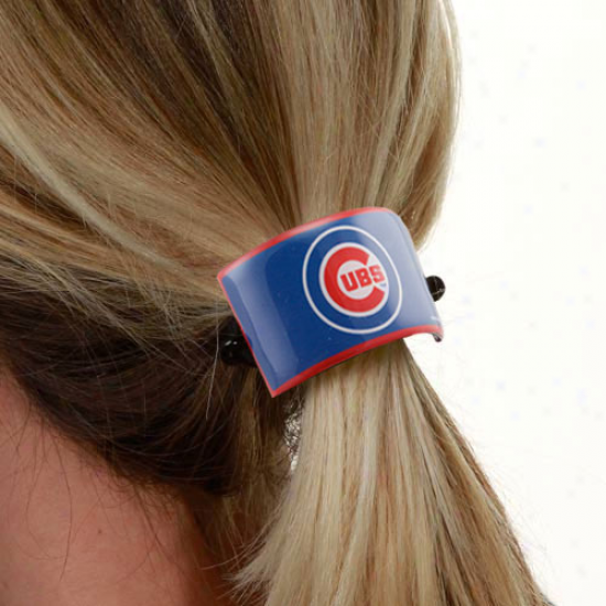 Chicago Cubs Team Logo Cuff Ponytail Holder