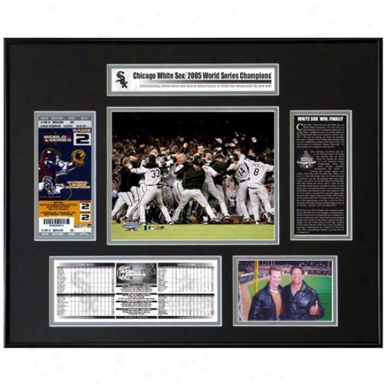 Chicago White Sox 2005 World Series Ticket Frame - Team Celebration