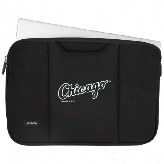 Chiccago White Sox Black 15'' Laptop Breathe Sleeve
