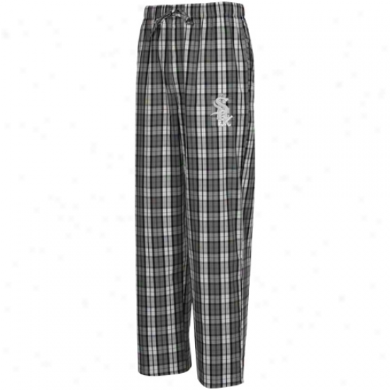 Chicago White Sox Black-white Campus Pajama Pants