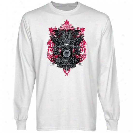 Cincinnati Beaecats White Shield Of Arms Long Sleeve T-shirt