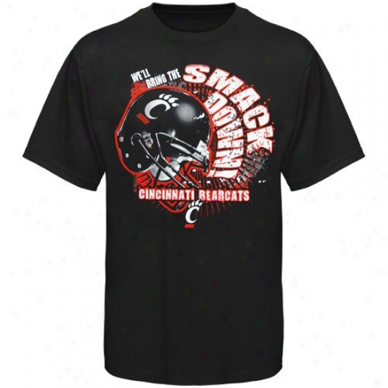 Cincinnati Bearcats Youth Black Smack Down T-shirt