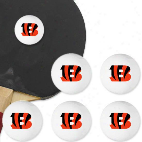 Cincinnati Bengals 6-pack Team Logo Table Tennis Balls