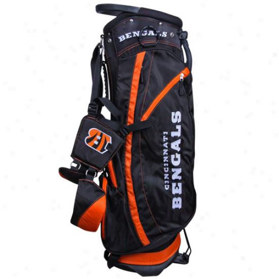 Cincinnati Bengals Black-orange Fairway Stand Golf Sack
