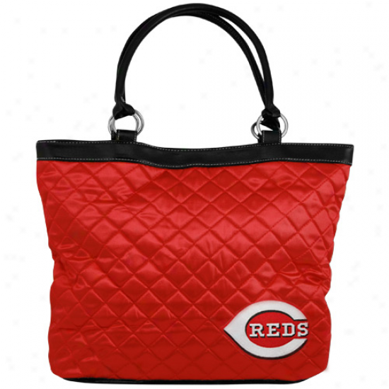 Cincinnati Reds Ladies Red Quilted Tote Bag