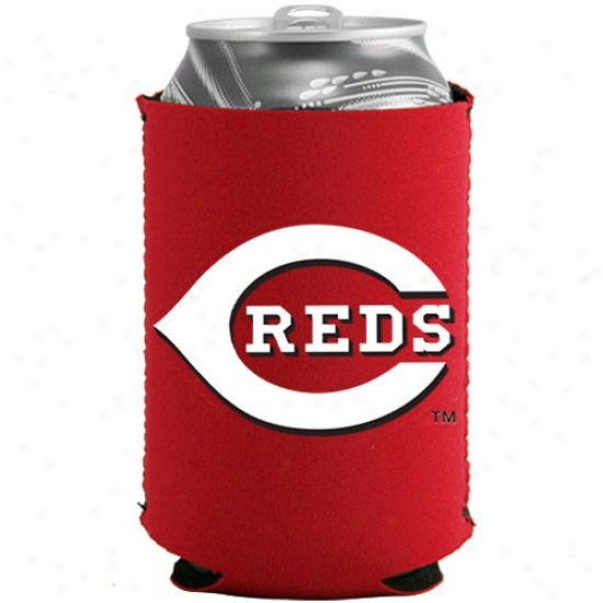 Cincinnati Reds Red Collapsible Can Coolie