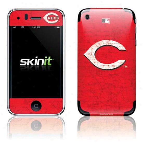 Cincinnati Rds Red Iphone 3g/3gs Distressed Skin