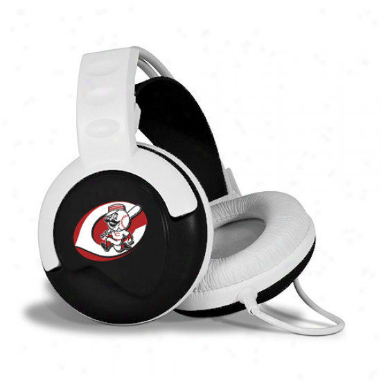 Cincinnati Red sWhite-black Fan Jams Over-ear Headphones