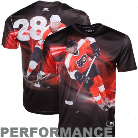 Claude Giroux Philadelphia Flyers #28 Three60 Player Gfaphics Perf0rmance Premium T-shirt - Black