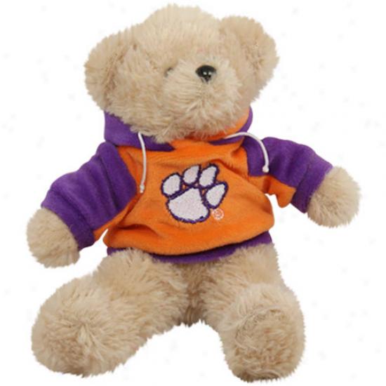 Clemson Tigers 8'' Plush Hoodie Bear-
