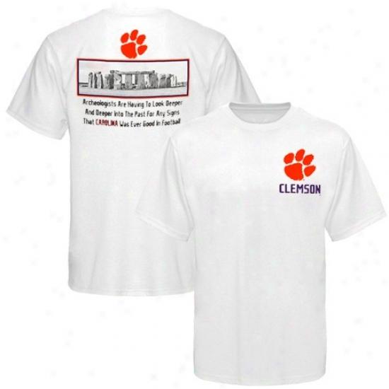 Clemson Tigers White Ruins T-shirt