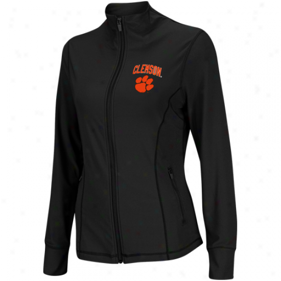 Clemson Tigers Women's Plank Athletic Jacket - Charcoal