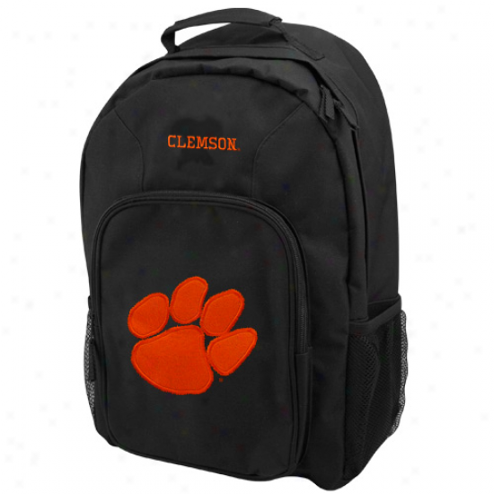 Clemson Tigers Youth Black Southpaw Backpack