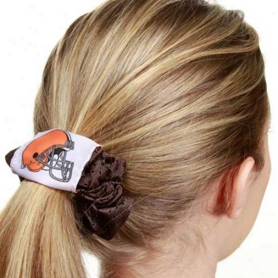 Cleveland Browns Brown Mesh Hair Twist