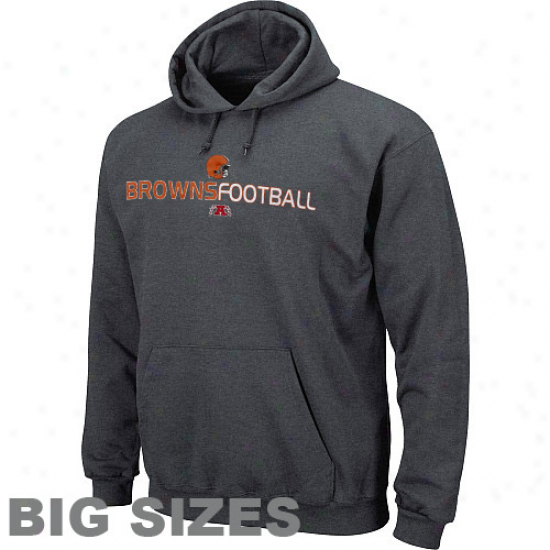 Clevelwnd Browns Charcoal Goaler Full Sizes Pullover Hoodie Sweatshirt