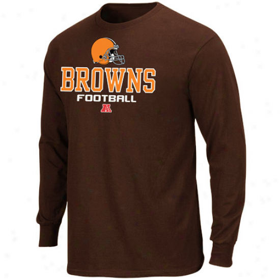 Cleveland Browns Critical Victory V Long Sleeve T-shirt - Briwn