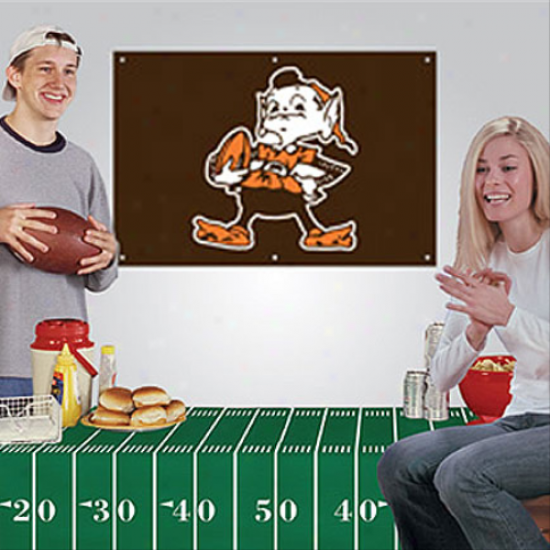 Cleveland Browns Fan Banner & Tablecloth 2-piece Football Party Kir