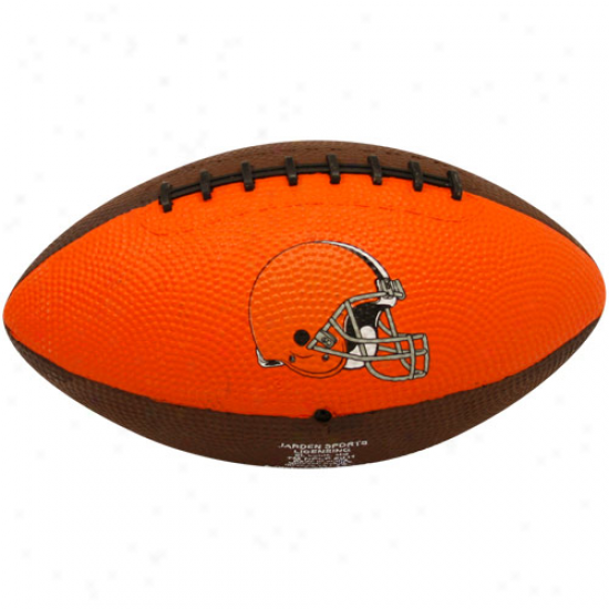 Cleveland Browns Youth Brown-orange Hail Mary Rubber Football