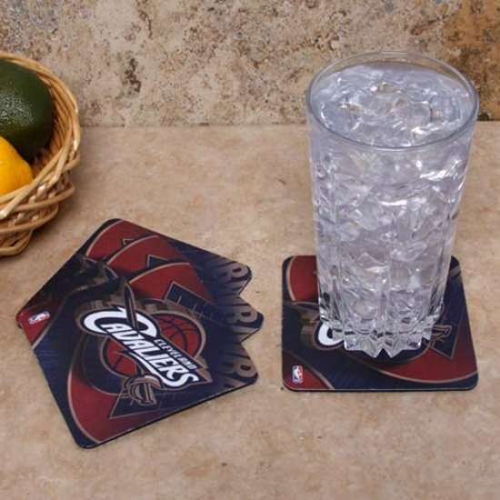 Cleveland Cavaliers 4-pack Sublimated Logo Neoprene Coaster Set