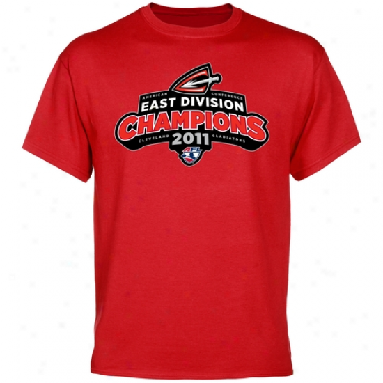 Cleveland Gladiators 2011 Afl East Division T-shirt - Red