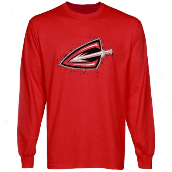 Cleveland Gladiators Scribble Sketch Long Soeeve T-shirt - Red