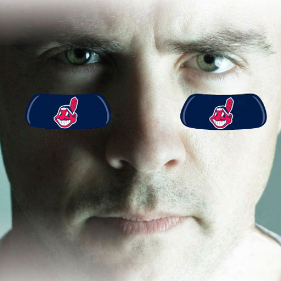 Cleveland Indians 2-pair Navy Blue Team-colored Eye Black Strips