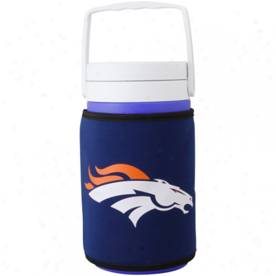 Coleman Denver Broncos Half Gallon Jug With Royal Blue Team Logo Cooler Coolie