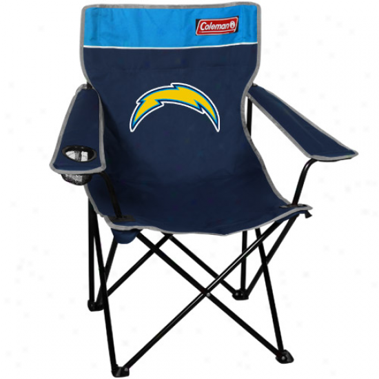 Coleman San Diego Chargers Navy Blue-powder Blue Quad Folding Chair