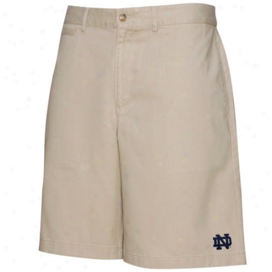 Colony Sportswear Notre Dame Fighting Irish Khaki Campus Chino Shorts