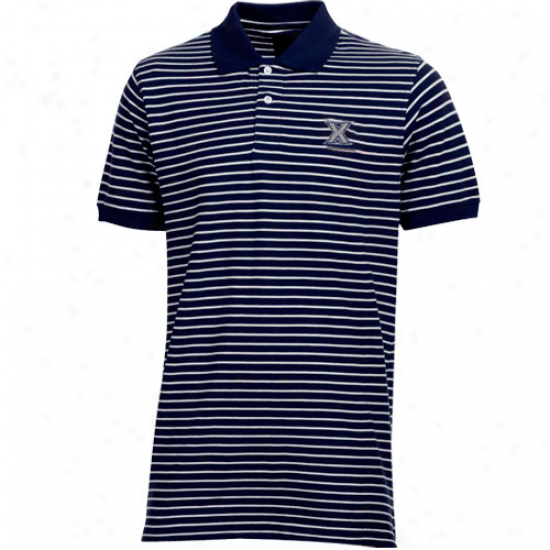 Colony Sportswear Xavier Museteers Navy Blue Icon Stripe Polo