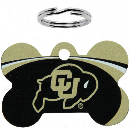 Colorado Buffaloes Bone Engravable Pet Id Tag