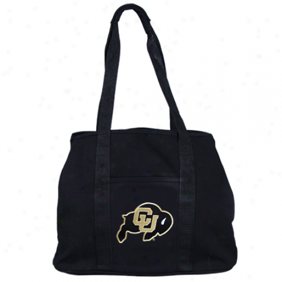Colorado Buffaloes Ladies Black Domestic Tote Bag