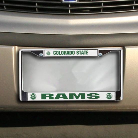 Colorado State Rams Chrome Licensd Plate Frame