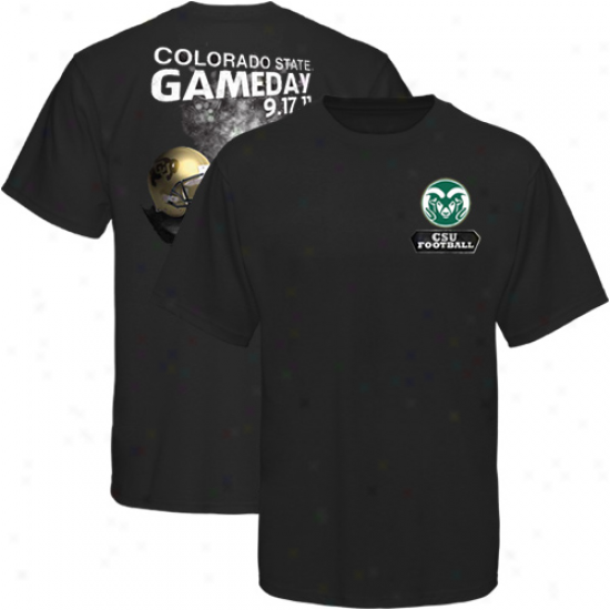 Colorado Commonwealth Rams Vs. Colorado Buffaloes 2011 Game Day Rivalry T-shirt - Black