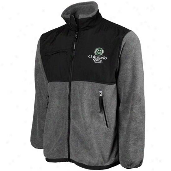 Colorado State Rams Yourh Black-gray Beacon Full Zip Jacket
