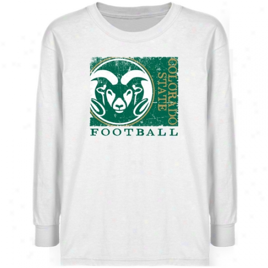Colorado State Rams Youth White Sport Make T-shirt