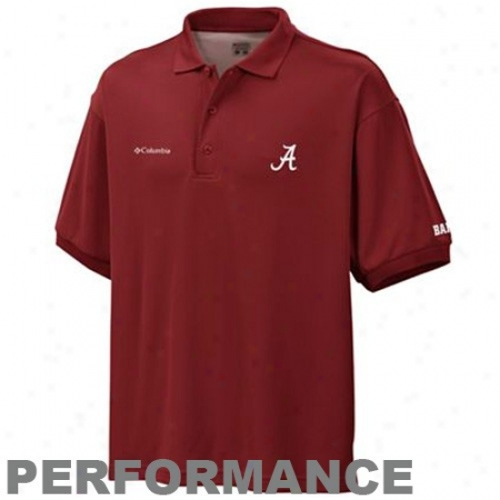Columbia Alabama Crimson Current Crimson Perfect Casr Performance Polo