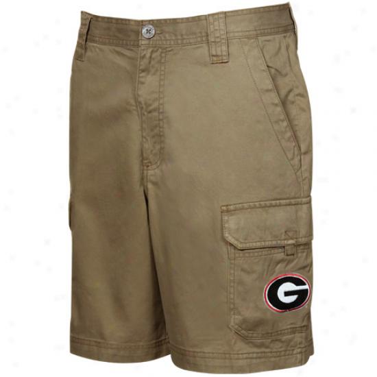 Columbia Georgia Bulldogs Dark Khaki Brownsmead Cargo Shorts