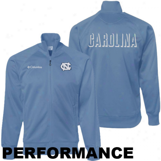 Columbia North Carolina Tar Heels (unc) Carolina Blue Acceleration Trackster Full Zip Performance Jacket