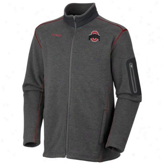 Columbia Ohio State Buckeyes Charcoal Alumni Full Zip Jacket