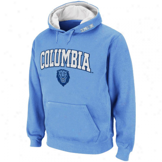 Columbia University Lions Light Blue Classic Twill Ii Pullover Hoodie Sweatshirt