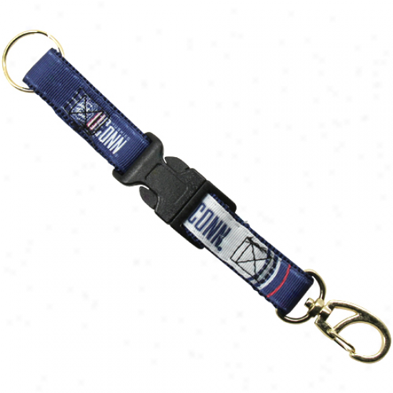 Connecticut Huskies (uconn) 2-pieec Detachable Swivel Keychain