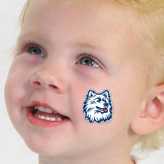 Connecticut Huskies (uconn) 4-pack Waterless Temporary Tattoos