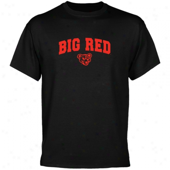 Cornell Big Red Black Mascot Arch T-syirt