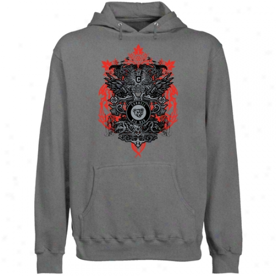 Cornell Big Red Gunmetal Shield Of Arms Lightweight Pullover Hoody