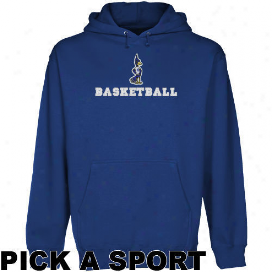 Creighton Bluejays Royal Blue Custom Sport Logo Applique Midweight Pullover Hoody -