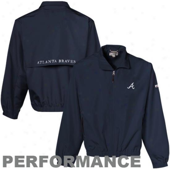 Cutter & Buck Atlanta Braves Navy Blue Bainbirdge Jacket