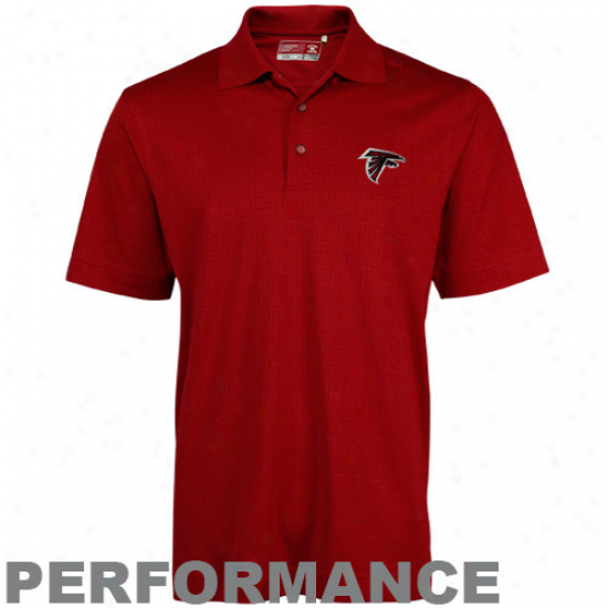 Cutter & Buck Atlanta Falcons Red Drytec Genre Performance Polo